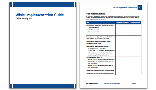 Wixie implementation resources to help get you started.